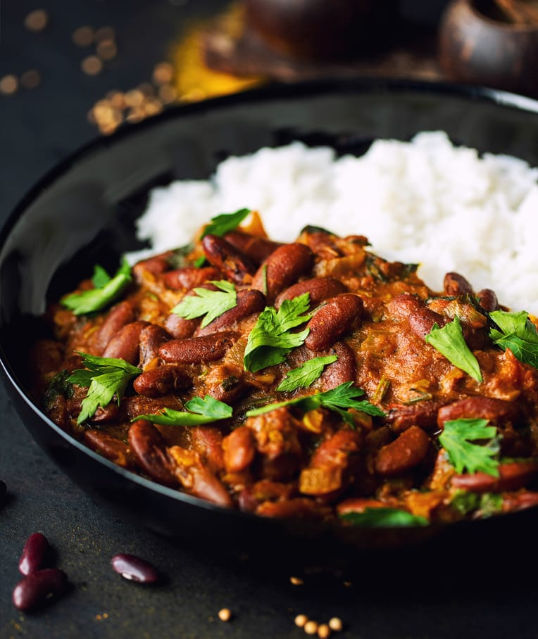 Dark Red Kidney Beans Indian Curry