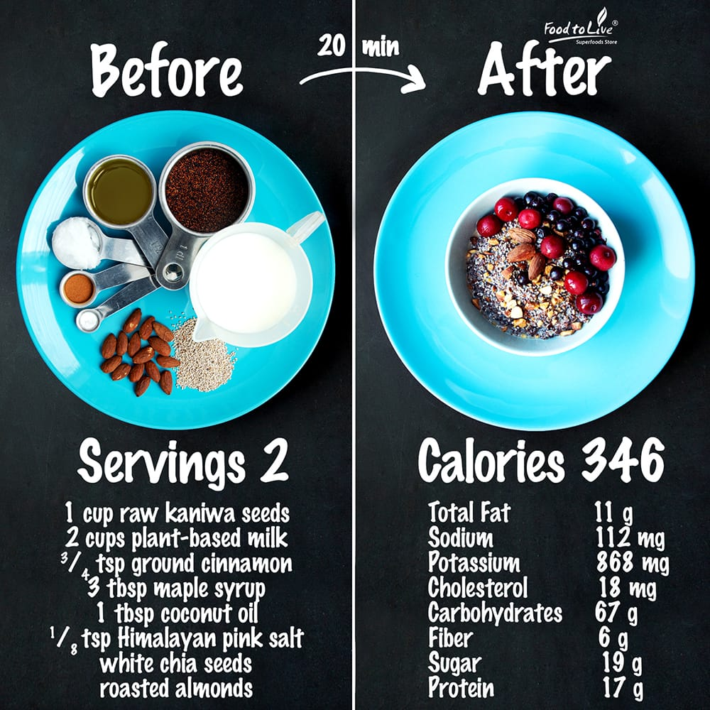 kaniwa breakfast bowl nutrition