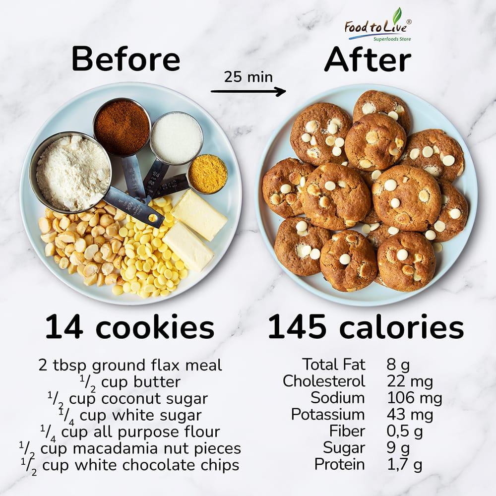White Chocolate Macadamia Cookies Nutrition