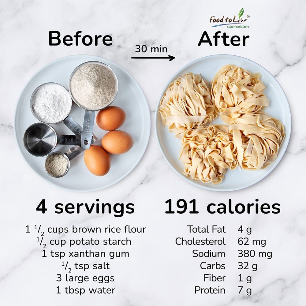 Homemade Rice Noodles nutrition