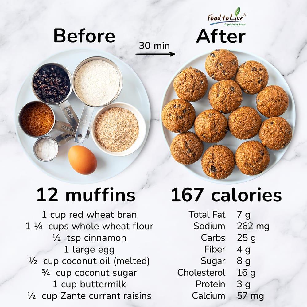 classic raisin bran muffins nutrition