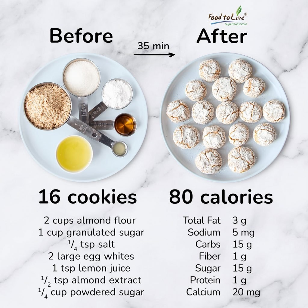 soft and chewy amaretti cookies nutrition