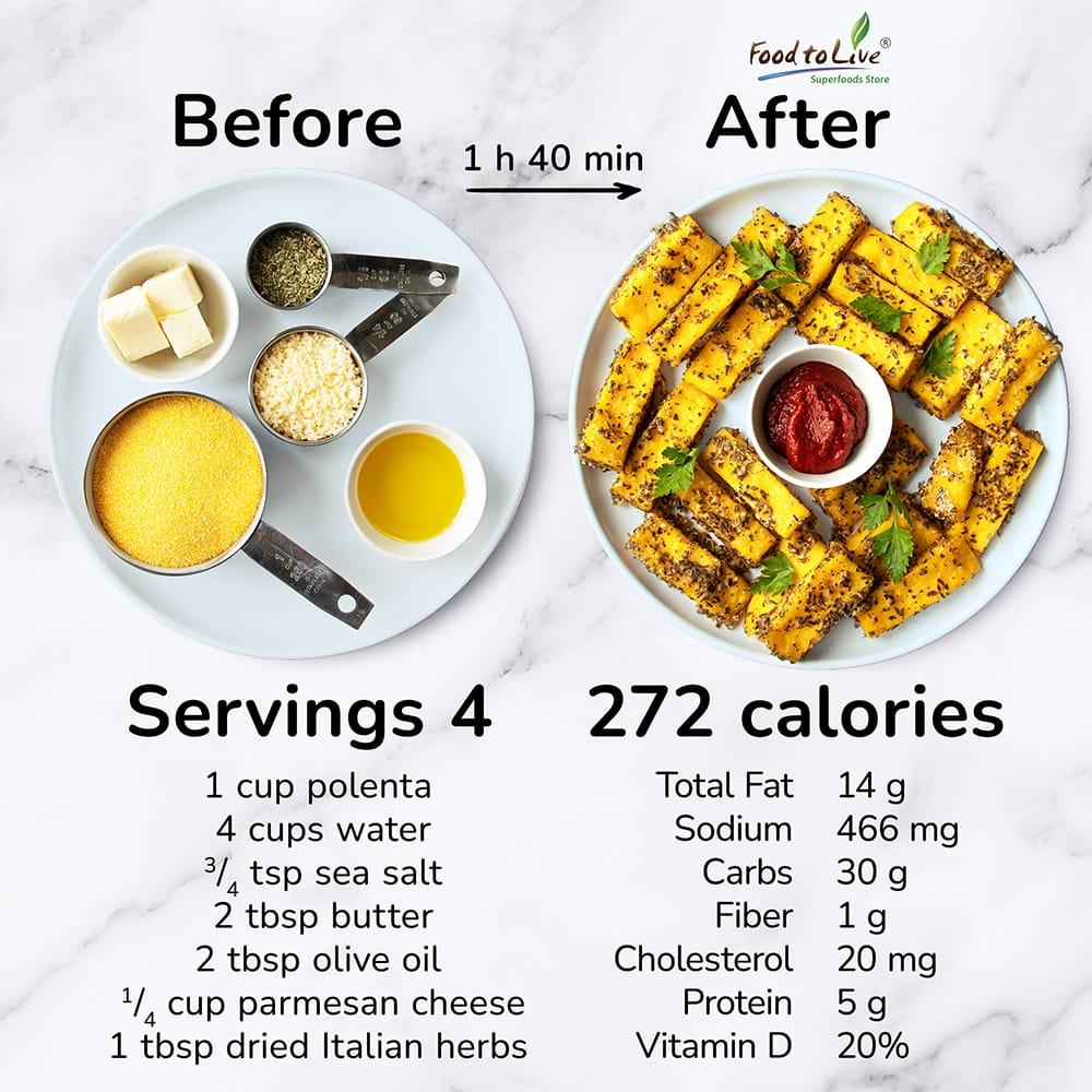 Parmesan and Herb Polenta Fries Nutrition