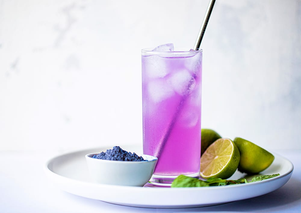 color changing mojito mocktail