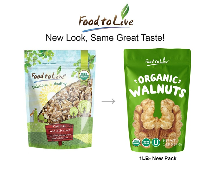 Organic Walnuts 1lb comparative