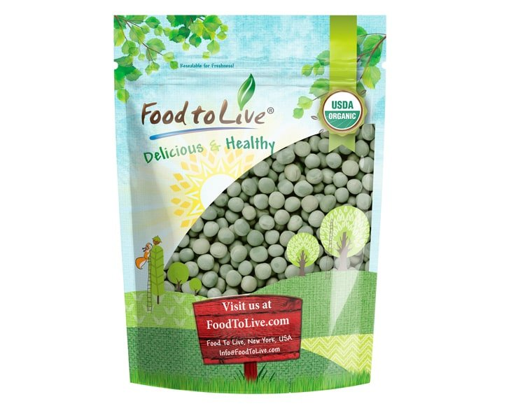 organic Whole Dried Green Peas pack