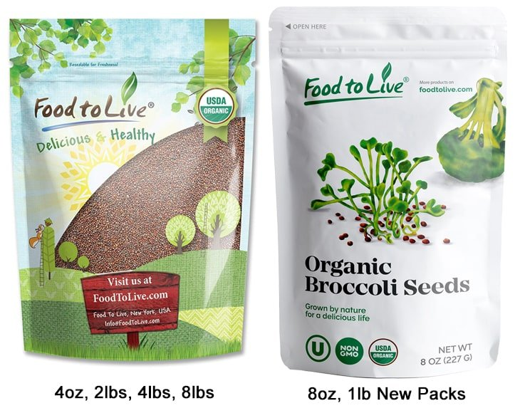 Organic Broccoli Seeds New Pack