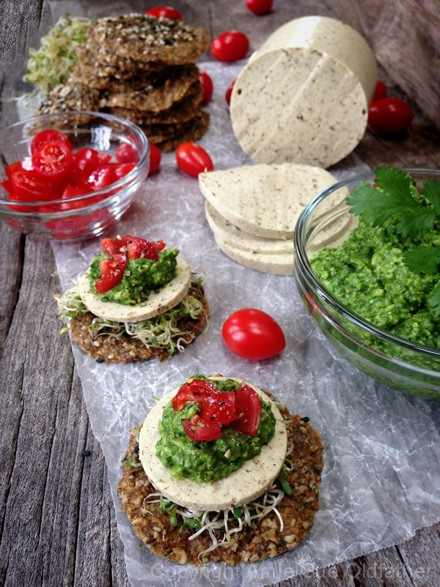 Raw Vegan Caraway and Dill Cheese