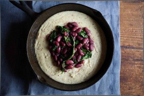 Stewed Cranberry Beans with Kale