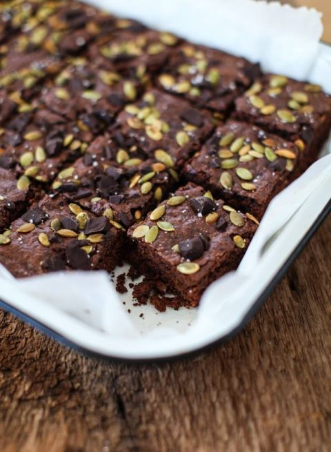 Vegan Pumpkin Seed Cocoa Brownies