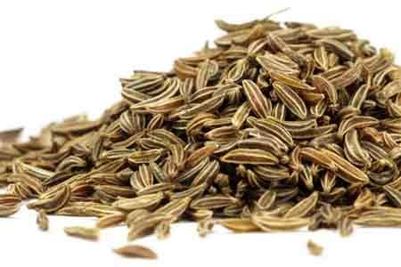 A bunch of cumin seeds