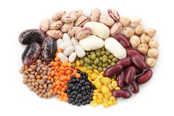 An assortment of different beans