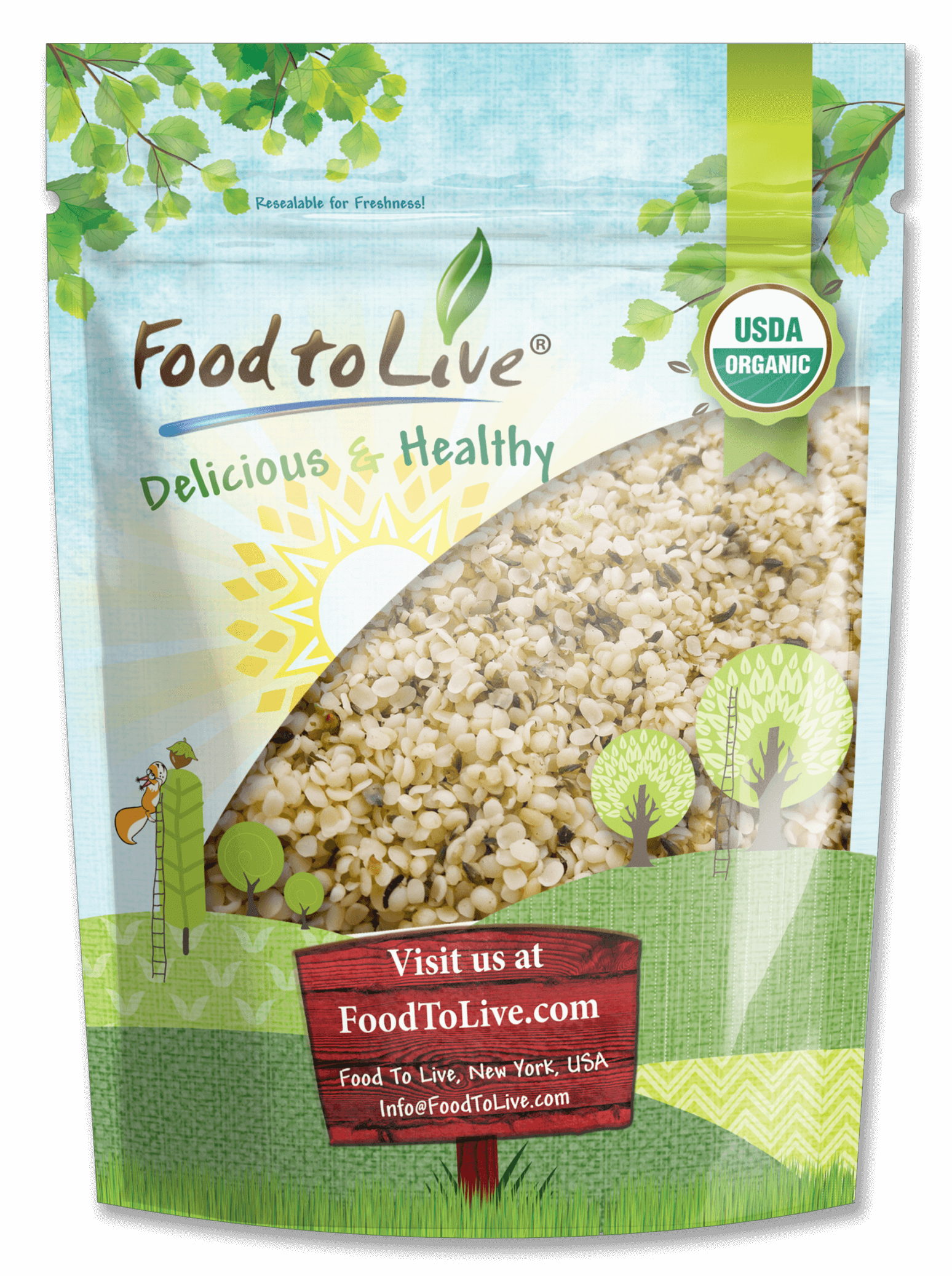 Organic Hemp Seeds (Hulled)
