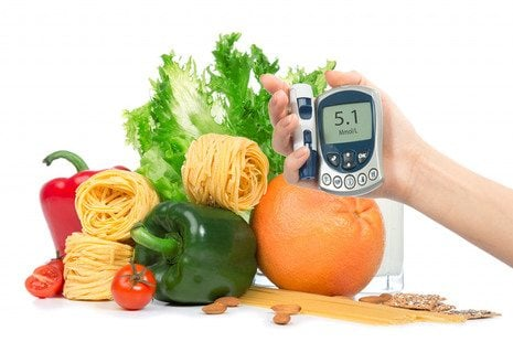 measuring the level of sugar in the vegetables