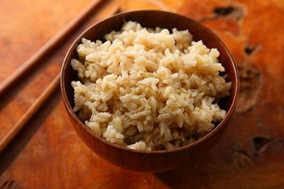 tasty cooked brown rice