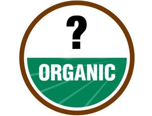 "a question mark with the word ""organic"""