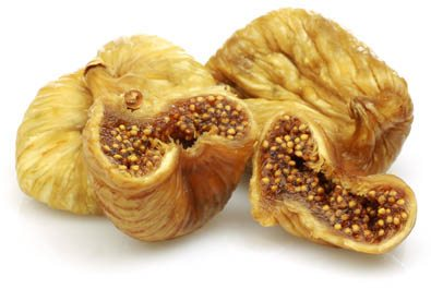 dried figs in the white background
