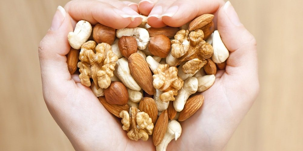 a handful of different nuts
