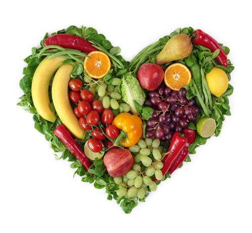Heart-shaped fruits and vegetables