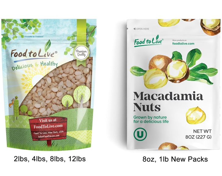 Macadamia Pieces New Packs