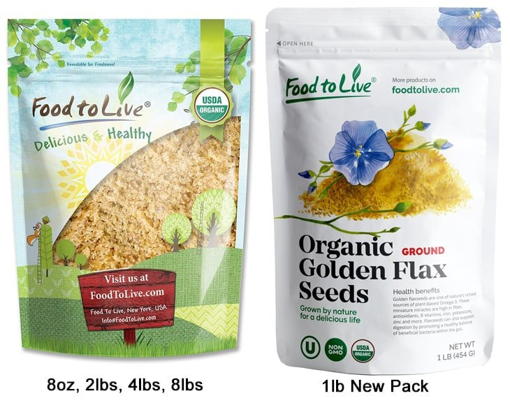 Organic Ground Golden Flaxseed New Packs