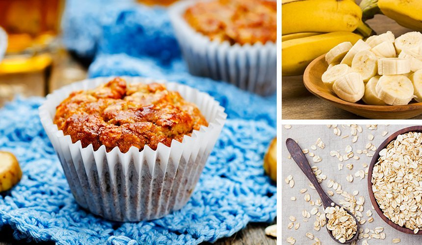 Banana Oats No-Bake Vegan Cakes