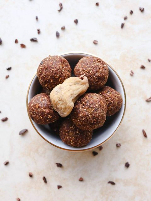 Vegan Cacao Fig Bliss Balls