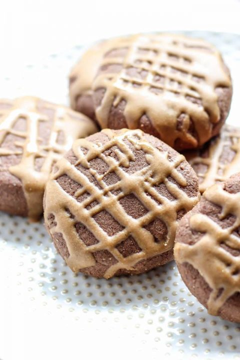 Chocolate Maca Protein Cookies with Maca Glaze (Vegan, GlutenFree)