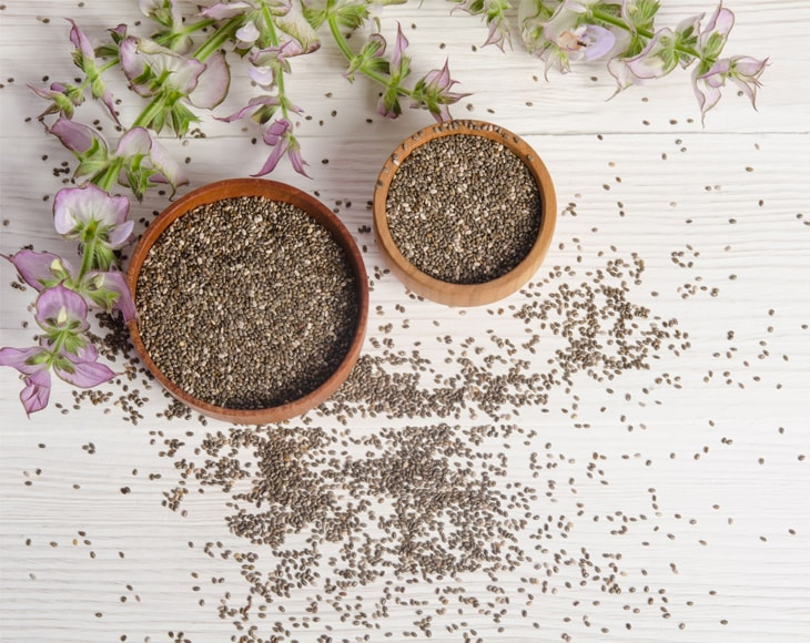 Chia Seeds and Flowers
