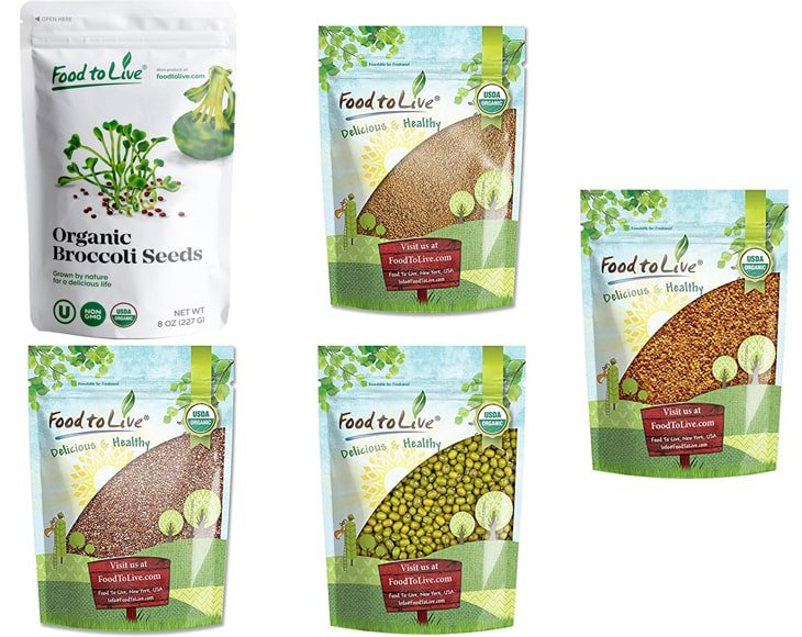 Organic Sprouting Seeds Gift Box New Pack