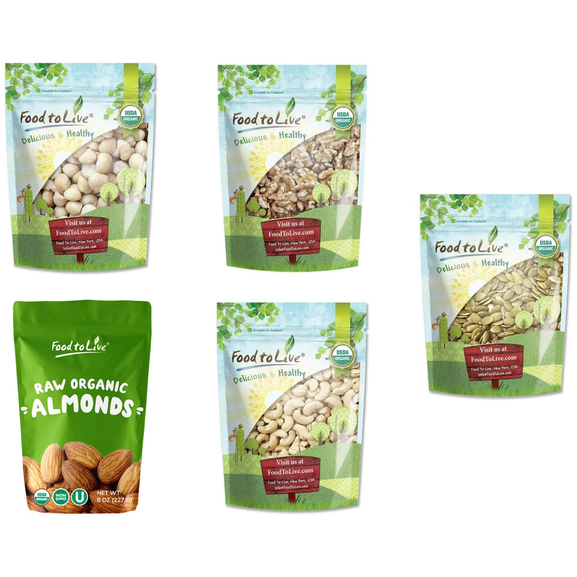 Organic Healthy Nuts & Seeds Gift Box