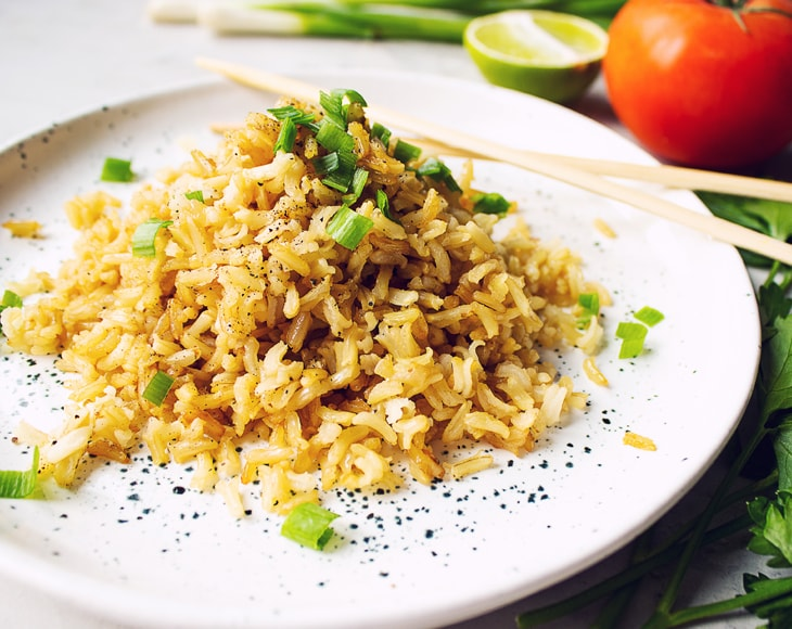 Organic Jasmine Brown Rice dish