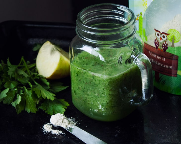 barley-sprout-powder-smoothie